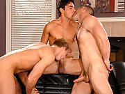 Jocks 3 horny guys suck big cock then fuck one of them in the ass!