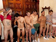 twinks Group of students exploring the hot nuts ritual with a bunch of naked guys