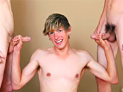 Group Sex Handsome threesome of  straight guys sandwhich hardcore anal