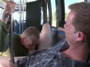 Straight guy Another bus trip to pick up new victims for a cock