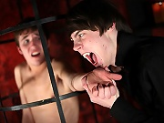 twinks Caged twink getting drained out of blood from seducing vampire twink!