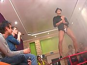 BareBack Twink jerkoff party quickly got promoted to a hardcore teen orgy